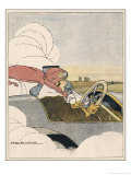 Woman at the Wheel of Her Car Giclee Print by Marco De Gastyne