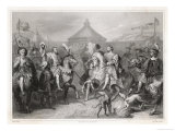 Francois I of France Meets Henry VIII of England Giclee Print by  Geoffroy
