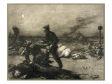 German Soldiers Pillage Picking Valuables from the Pockets of Victims Lying Dead and Wounded Giclee Print by F.c. Baude