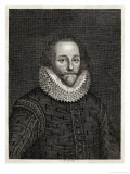 William Shakespeare Playwright and Poet Giclee Print by S. Bennett