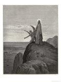 Jesus is Tempted by Satan in the Wilderness Reproduction giclée Premium par Gustave Doré