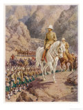 Lord Roberts on the March to Kandahar Giclee Print by Howard Davie
