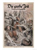 Hand-To-Hand Fighting Between German and French Infantry Giclee Print by E. Furst