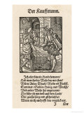 Two German Merchants Negotiating in a Warehouse Reproduction procédé giclée par Jos Amman