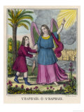 The Archangel Raphael Advises Tobias to Catch a Fish Giclee Print by Chiesa