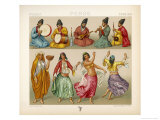 Group of Persian Musicians Play on a Variety of Instruments Giclee Print by  Dambourget