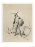 Saxon Warrior Giclee Print by Victor Jean Adam