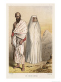 Male and Female Pilgrims in the Approved Costume for Making the Pilgrimage to Mecca Giclee Print by J. Brandard