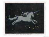 The Constellation of Monoceros, a Unicorn, and Canis Minor, a Small Dog Giclee Print by Charles F. Bunt