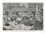 Trial in the Divorce Court London: Cross-Examining a Witness Premium Giclee Print by J. Barnard Davis