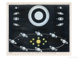 Phases of the Planet Saturn, Giclee Print