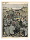 Playing Instruments in the German Trenches Reproduction proc&#233;d&#233; gicl&#233;e par Otto Flechter