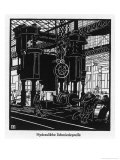 Krupp Essen: Hydraulic Forging Press Giclee Print by Robert Engels