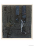The Story of the Youth Who Went Forth to Learn What Fear was, The Boy Encounters a Ghost Giclee Print by Karl Fahringer