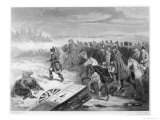 During the Retreat from Moscow Napoleon Stretches His Legs Leading the Garde Imperiale on Foot Giclee Print by Geille