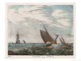 Cirrus Clouds and Sailing Boats out at Sea Giclee Print by Charles F. Bunt