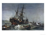 "The Sinking of the ""Birkenhead"" Troopship Giclee Print by Charles Dixon"