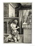 Man Flagellates Himself as Penance for His Sins Giclee Print by Albrecht Dürer