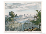 Rocky Landscape with Cirro- Stratus Clouds Giclee Print by Charles F. Bunt
