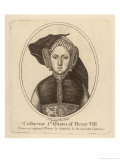 Catherine of Aragon Daughter of Ferdinand and Isabella of Spain 1st Queen of Henry VIII Giclee Print by Francesco Bartolozzi