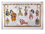 Sheherazade Elaborate Persian Style Costume Designs by Bakst Giclee Print by Leon Bakst