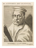 Andreas Janos Lascaris Greek Scholar Giclee Print by Nicolas de Larmessin
