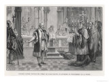 Galileo Denies the Movement of the Earth to the Judges of the Holy Office Giclee Print by Louis Figuier