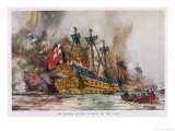 Dutch in Medway Giclee Print by Charles Dixon