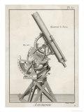 Nairn's Equatorial Telescope Giclee Print by  Benard