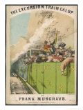 Excursion Train Giclee Print by Alfred Concanen