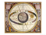 Representation of Ptolemy's System Showing Earth Premium Giclee Print by Andreas Cellarius
