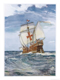 Columbuss Caravel Formerly the Marigalante Giclee Print by C.p. Carruthers