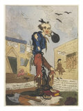 Satirical View of the Free- Born Englishman Following the Peterloo Massacre Giclee Print by George Cruikshank