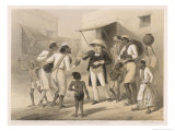 German Protestant Missionary in an Indian Village Doing His Best to Spread the Good Word Giclee Print by Captain G.f. Atkinson