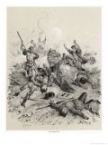 Battle of Tettenhall Edward the Elder King of the West Saxons Defeats an Army of Invading Danes Giclee Print by Victor Jean Adam