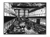 Krupp&#39;s Factory in Essen: Machine Shop Iv Giclee Print by Robert Engels