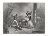 Attacking a Ship Morgan Seizes an Attractive Spanish Female Giclee Print by Ferdinand