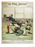 France V Ireland at Paris Giclee Print by Andre Galland