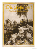 German Infantry are Attacked by Indian Cavalry Giclee Print by E. Furst