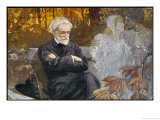 Giuseppe Verdi Composing, Giclee Print