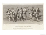 He Dances with His Friends the Nine Muses Giclee Print by Francesco Bartolozzi