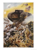 First Battle of the Somme Giclee Print by Stanley L. Wood
