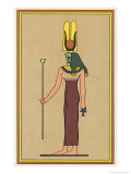 Cobra-Headed Goddess Guardian of the Pharaoh and an Embodiment of Divine Motherhood Giclee Print by E.a. Wallis Budge
