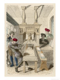 French Printing Press of the 15th Century Giclee Print by Gerlier