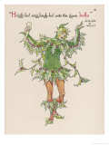 Holly Personified Giclee Print by Walter Crane