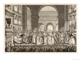 Francois-Marie Arouet the Crowning of Voltaire's Bust at the Theatre Francais Giclee Print by Gaucher