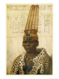 Taharqa Pharaoh (25th Dynasty) Initiated Extensive Building Projects in Both Egypt and Nubia Giclee Print by Winifred Brunton