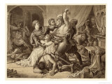 Edward III Seizes His Powerful Rival Roger Mortimer in Nottingham Castle Giclee Print by Thomas Brown