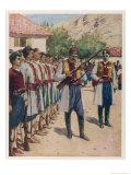 Montengro Soldiers at Their Weekly Drill and Inspection of Weapons Giclee Print by Allen Stewart