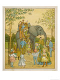 Elephant Rides for Children at Regent's Park Zoo: The Passengers Mount by Ladder Giclee Print by Thomas Crane
